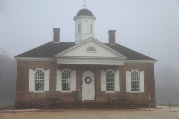 Courthouse in fog